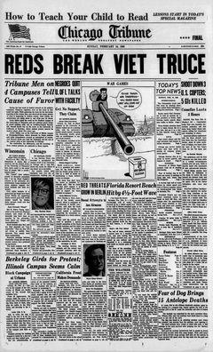 Chicago Tribune, nº 47, 16/02/1969, p. 1