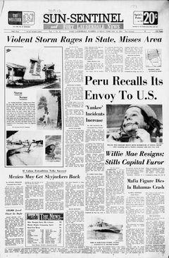 Sun-Sentinel, Vol. 7, nº 6, 16 février 1969, p. 1