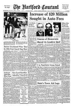 The Hartford Courant, vol. CXXXII, nº 47, 16 février 1969, p. 1