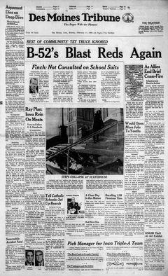 Des Moines Tribune, 17/02/1969, p. 1
