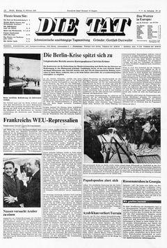 Die Tat, nº 40, 17/02/1969, p. 1