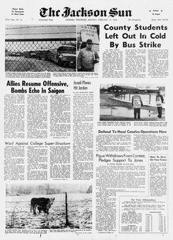 The Jackson Sun, nº 41, 17 février 1969, p. 1