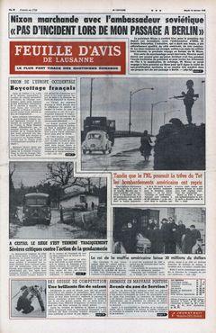Feuille d'Avis de Lausanne, nº 40, 18/02/1969, p. 1
