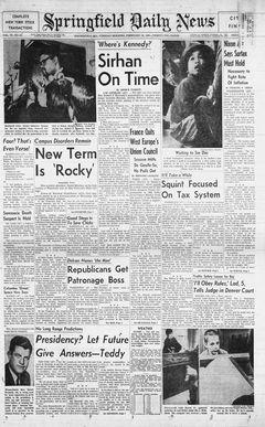 Springfield Daily News, vol. 79, nº 42, 18/02/1969, p. 1