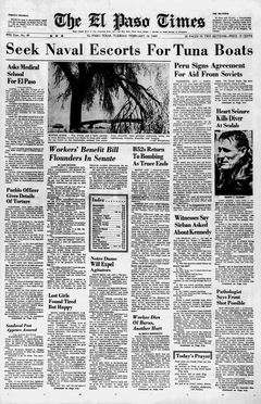 The El Paso Times, nº 49, 18/02/1969, p. 1