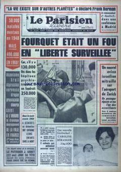 Le Parisien libéré, nº 7612, 19/02/1969, p. 1