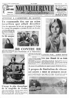 Nouvelle revue de Lausanne, nº 41, 19/02/1969, p. 1