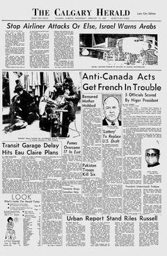 The Calgary Herald, 19/02/1969, p. 1