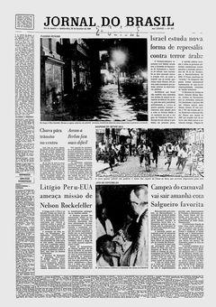 Jornal do Brasil, nº 267, 20/02/1969, p. 1