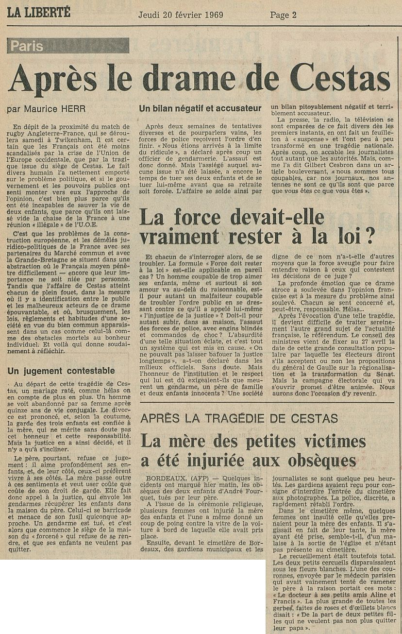 La Liberté, nº 117, 20/02/1969, p. 2