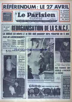 Le Parisien libéré, n° 7613, 20/02/1969, p. 1