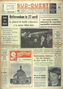 Sud-Ouest, nº 7616, 20/02/1969, p. 1
