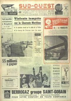 Sud-Ouest, nº 7617, 21/02/1969, p. 1