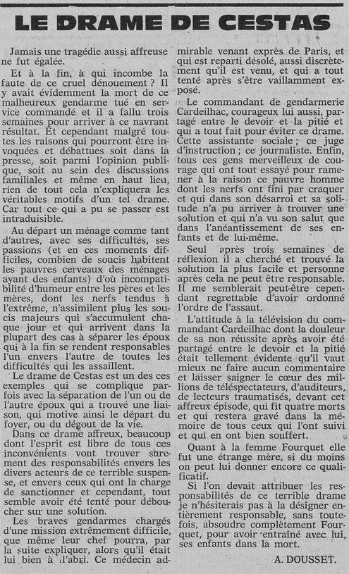 Le Républicain du Bazadais et des Landes girondines, nº 156, 22 février 1969, p. 4