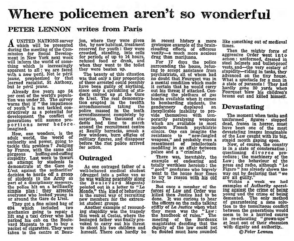 The Guardian, 22/02/1969, p. 11