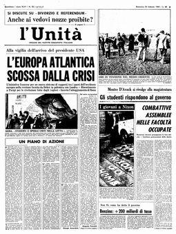 L'Unità, n° 52, 23/02/1969, p. 1