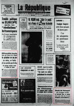 La République des Pyrénées, nº 7458, 24/02/1969, p. 1