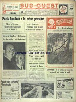 Sud-Ouest, nº 7620, 25/02/1969, p. 1