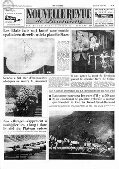 Nouvelle revue de Lausanne, nº 47, 26/02/1969, p. 1