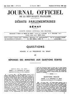 Journal officiel de la République française (Débats parlementaires, Sénat), nº 2S, 28 février 1969, p. 41