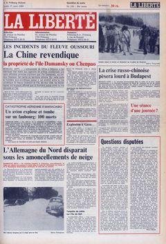 La Liberté, nº 138, 17/03/1969, p. 1
