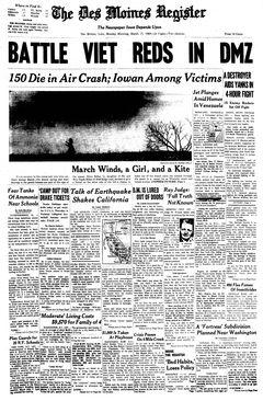 The Des Moines Register, 17/03/1969, p. 1
