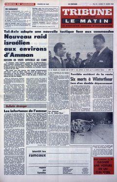 Tribune de Lausanne – Le Matin, nº 76, 17/03/1969, p. 1
