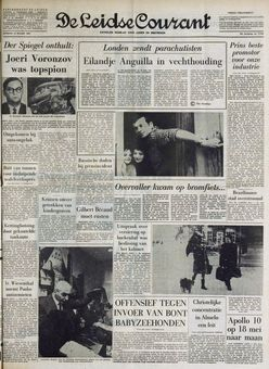 De Leidse Courant, nº 17701, 18/03/1969, p. 1