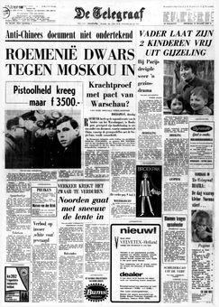 De Telegraaf, nº 25310, 18/03/1969, p. 1