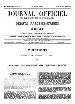Journal officiel de la République française (Débats parlementaires, Sénat), nº 3S, 18 mars 1969, p. 67