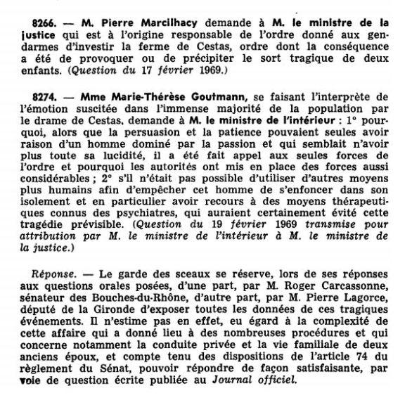 Journal officiel de la République française (Débats parlementaires, Sénat), nº 3S, 18 mars 1969, p. 89