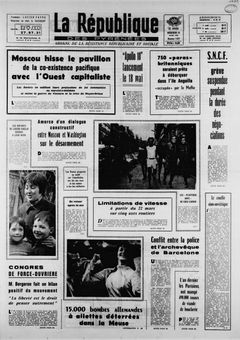 La République des Pyrénées, nº 7477, 19 mars 1969, p. 1