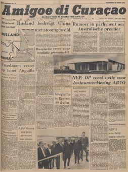 Amigoe di Curaçao, nº 67, 20/03/1969, p. 1