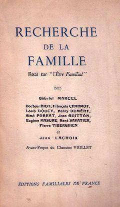Recherche de la famille