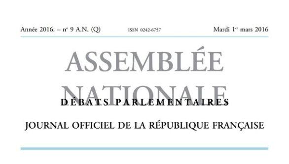 Journal officiel de la République française, nº 9AN(Q), 1er mars 2016