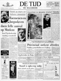 De Tijd, 13/02/1969, n° 40166, p. 1