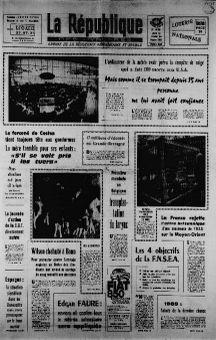 La République des Pyrénées, 13/02/1969, n° 7449, p. 1