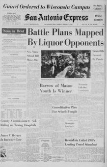 San Antonio Express, n° 104, 13/02/1969, p. 1