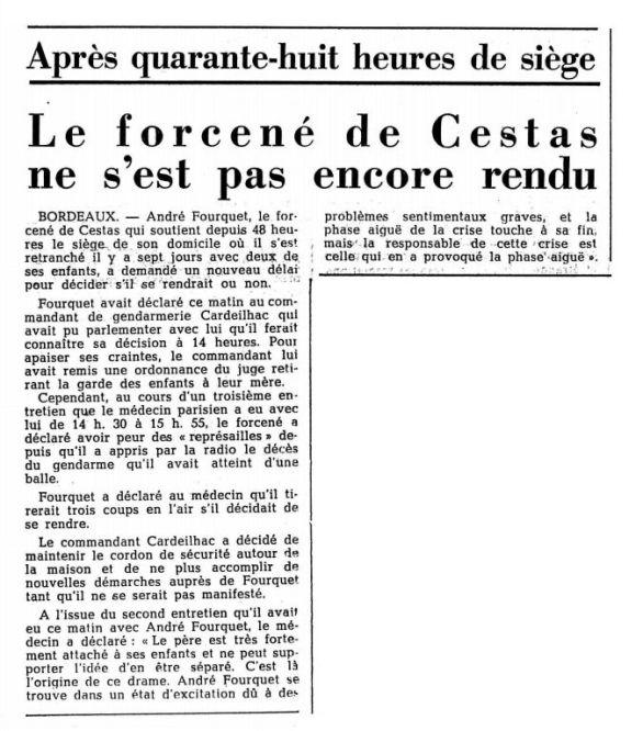 Le Confédéré quotidien, n° 37, 14 février 1969, p. 6