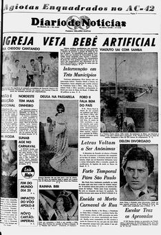 Diário de Notícias, nº 14182, 15 février 1969, p. 1