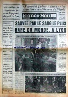 France Soir, 15 février 1969, p. 1