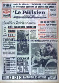 Le Parisien Libéré, nº 7609, 15 février 1969, p. 1