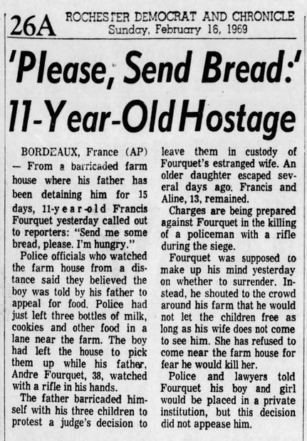 Democrat and Chronicle, 16 février 1969, p. 26A