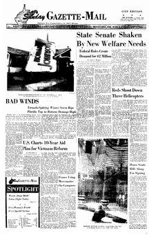 Sunday Gazette Mail, 16 février 1969, p. 1
