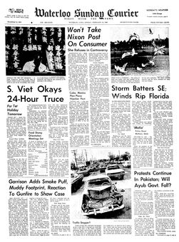 Waterloo Sunday Courier, 16 février 1969, p. 1