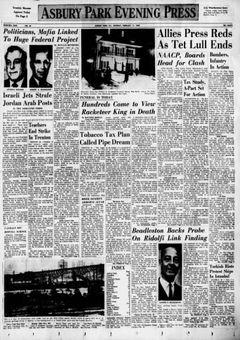 Asbury Park Evening Press, nº 40, 17 février 1969, p. 1