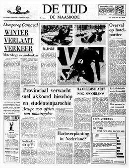 De Tijd, nº 40169, 17 février 1969, p. 1