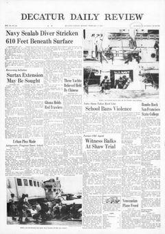 Decatur Daily Review, vol. 92, nº 40, 17 février 1969, p. 1