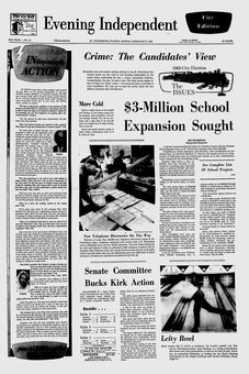 Evening Independant, nº 91, 17 février 1969, p. 1