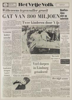 Het Vrije Volke, nº 7176, 17 février 1969, p. 1